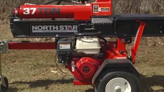 northstar horizontal vertical log splitter 37 ton 270cc honda gx270 engine