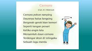 #lagutematik #pembelajarankelas2 CEMARA (lirik) | Lagu Cemara Pohon Ramping | Cipt. A. T. Mahmud