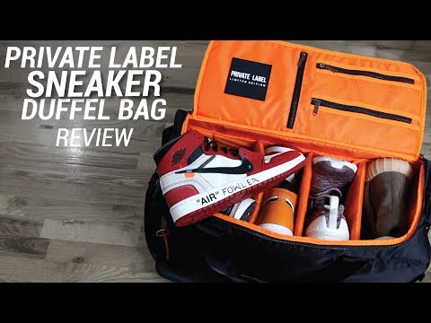 PRIVATE LABEL SNEAKER DUFFLE BAG REVIEW