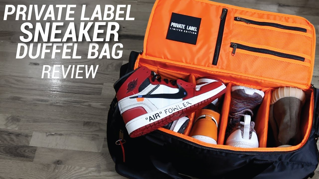 00ef090b216 PRIVATE LABEL SNEAKER DUFFLE BAG REVIEW - YouTube