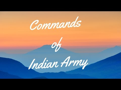 All Commands of Indian Army