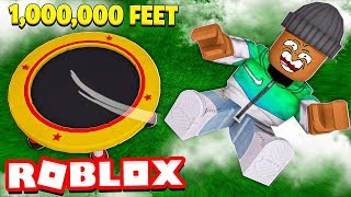 JUMPING 1,000,000 FEET in Roblox!