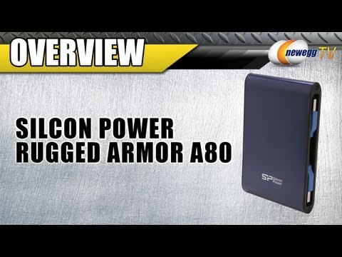Newegg TV: Silicon Power Rugged Armor A80 Blue Military Grade Portable Hard Drive Overview