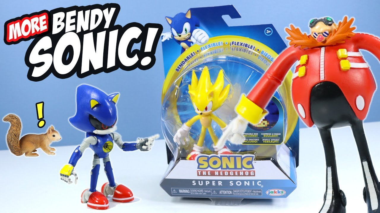 Sonic The Hedgehog Bendable Figures Wave 2 Toy Review Dr Eggman Youtube