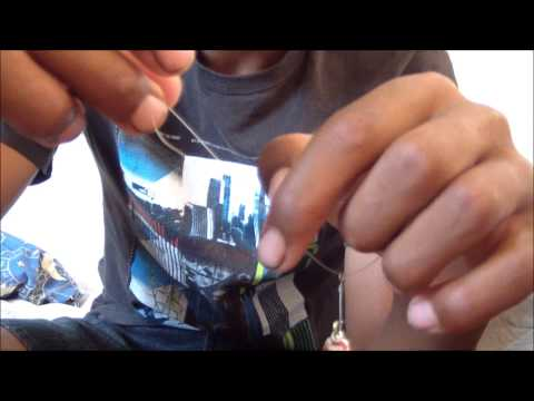 Simple strong trout fishing knot