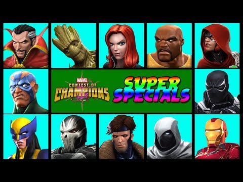Marvel Contest Of Champions: All Character Specials Pt.2