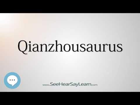 Qianzhousaurus - Dinosaur Names 🔊☄