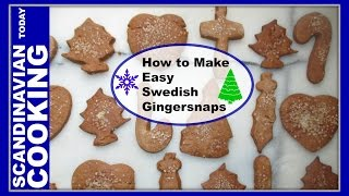 How to Make Easy Swedish Gingersnaps  Pepparkakor