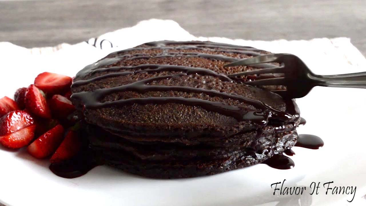 Chocolate Pancake | Eggless Pancake Recipe | How to Make Easy Pancakes