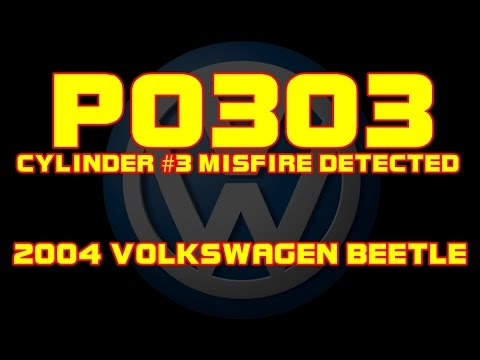 ⭐ 2004 Volkswagen Beetle - P0303 - Cylinder 3 Misfire Detected - Ignition  Coil Recall