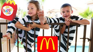 McDonalds JAIL BREAK Bad Kids Steal McDnoalds Happy Meal Prank Mom Freaks Out IRL DisneyCarToys