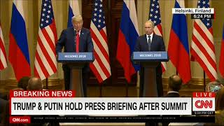 Саммит Россия-США: спич Трампа (16/07/2018)