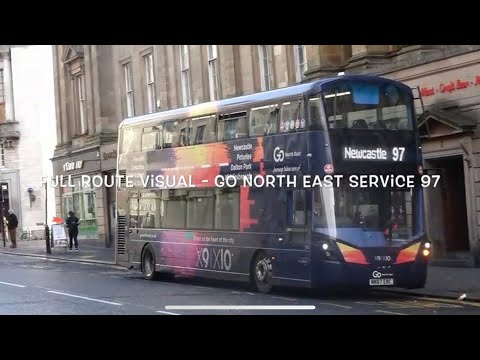 Full Route Visual - Go North East Service 97 (GNE 6310)