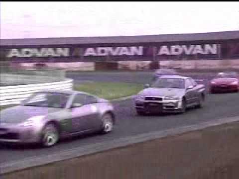 Best Motoring Tsukuba Battle Nissan 350Z vs Honda S2000 nice engine sound! vs Nissan Skyline GTR R34 camera car vs Porsche Boxster vs BMW M3