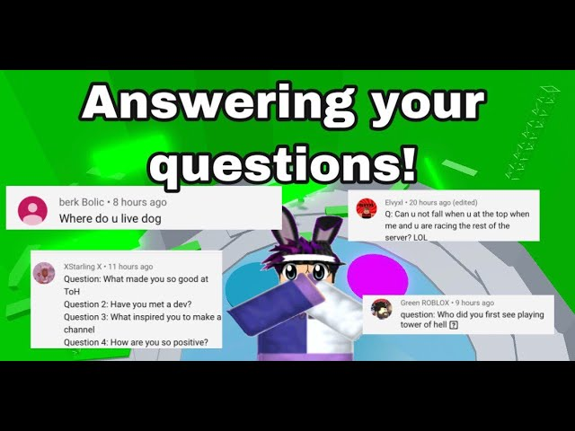 Good Roblox Questions Answering All Your Questions Qna Roblox Youtube
