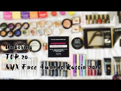 TOP 20 NYX Face Awards Russia 2016 - Unboxing