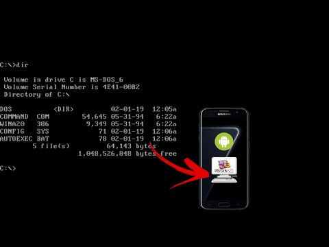 Installing MS-DOS 6.22 On Android Using Limbo PC Emulator + Download.