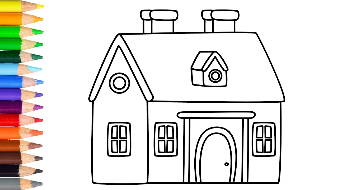 How To Draw A Small House Very Easy Learn Drawing Step By Step With Draw Easy Youtube