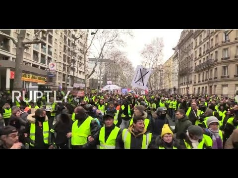 : Yellow vest protesters call for 12th week of demonstrations in Paris