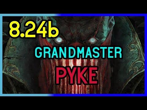 GRANDMASTER SUPPORT PYKE GAMEPLAY  8.24b - League of Legends thumbnail