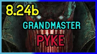 GRANDMASTER SUPPORT PYKE GAMEPLAY  8.24b - League of Legends