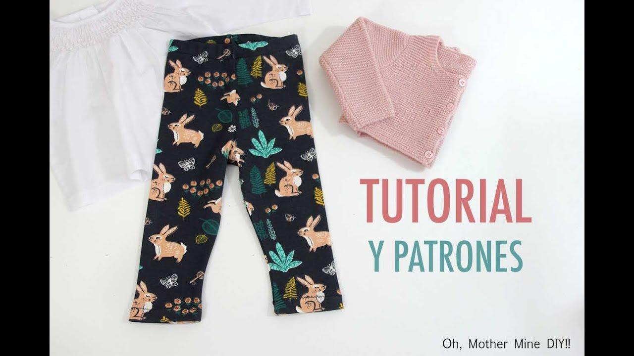 DIY Costura  Cómo hacer leggins de niñas (patrones gratis) - YouTube d9e43c5ea5a9