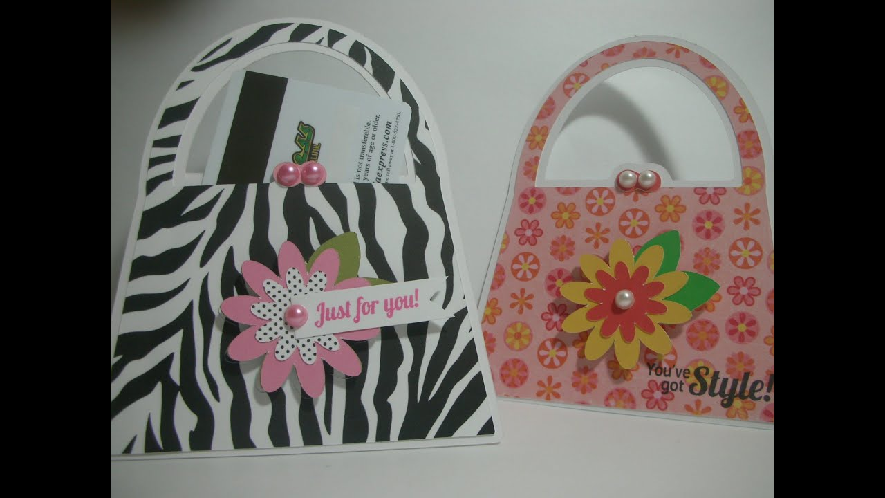 Purse shaped card/gift card holder - YouTube