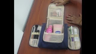 Toiletry Travel Bag Review In Tamil | Make Up Pouch Review | Travel Bag Shopping | Gowri Reviews