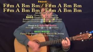 The Weekend (Brantley Gilbert) Guitar Lesson Chord Chart - F#m A B Bm