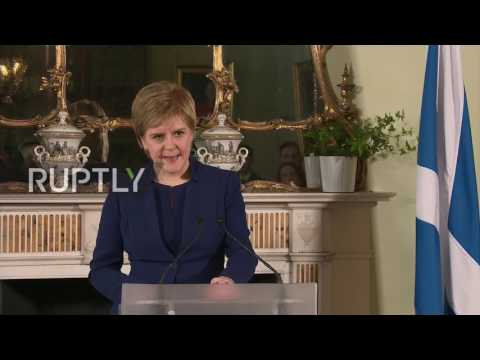 UK: Second independence referendum plans 'undoubtedly' factor in election - Sturgeon