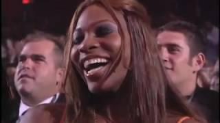 Jamie Foxx serenades Serena Williams   Tennis Ball