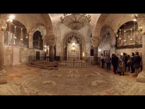 360 video: Chapel of St. Helena, Church of the Holy Sepulchre, Jerusalem, Israel