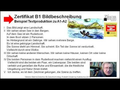 zertifikat b1 beispiel bildbeschreibung u a1a2 youtube