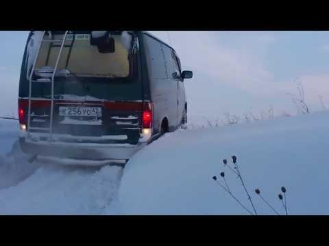 Mazda Bongo Friendee diesel 4wd подъём по снегу дизель легкое бездорожье