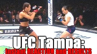 UFC Fight Night Tampa (Joanna Jedrzejczyk vs Michelle Waterson): Reaction and Results