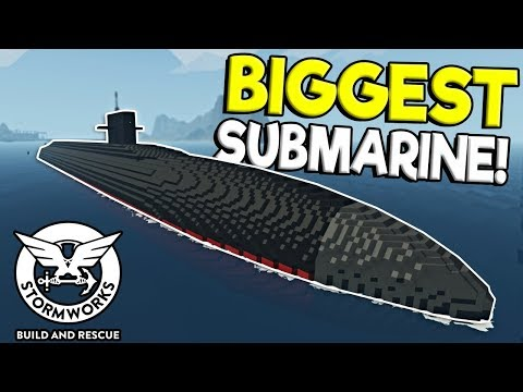 MASSIVE SUBMARINE & DESTROYER RESCUE! - Stormworks: Build And Rescue Update Gameplay
