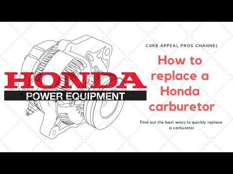 How to replace a carburetor on a Honda GX690