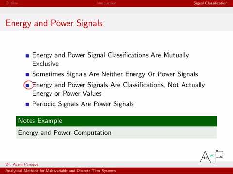 Discrete-Time Signals and Systems Part 1 (8/10) - Energy and Power Signals