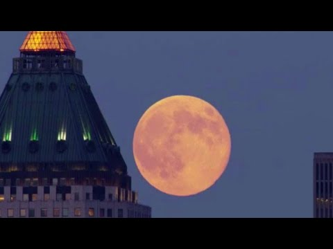 "Sunday's full moon kicks off a ""supermoon trilogy"" of extra big and bright full moons"