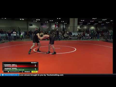 TB MIDDLE SCHOOL 131-131 Mariah Wahl North Montana Wrestling Club Vs Kaiden Abell Salem Elite Mat