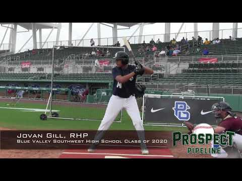 Jovan Gill prospect video, RHP, Blue Valley Southwest High School Class of 2020