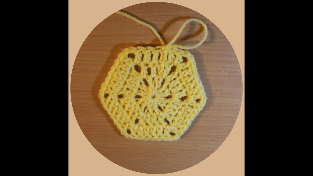 How To Crochet A Simple Hexagon Tutorial Youtube