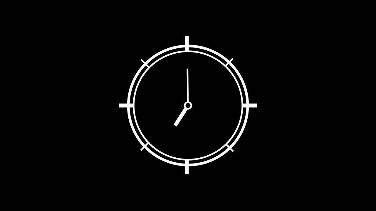 ADOBE AFTER EFFECTS: Clock Animation - YouTube