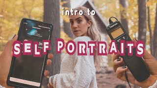 SELF PORTRAIT PHOTOGRAPHY   how to use phone & manual timer