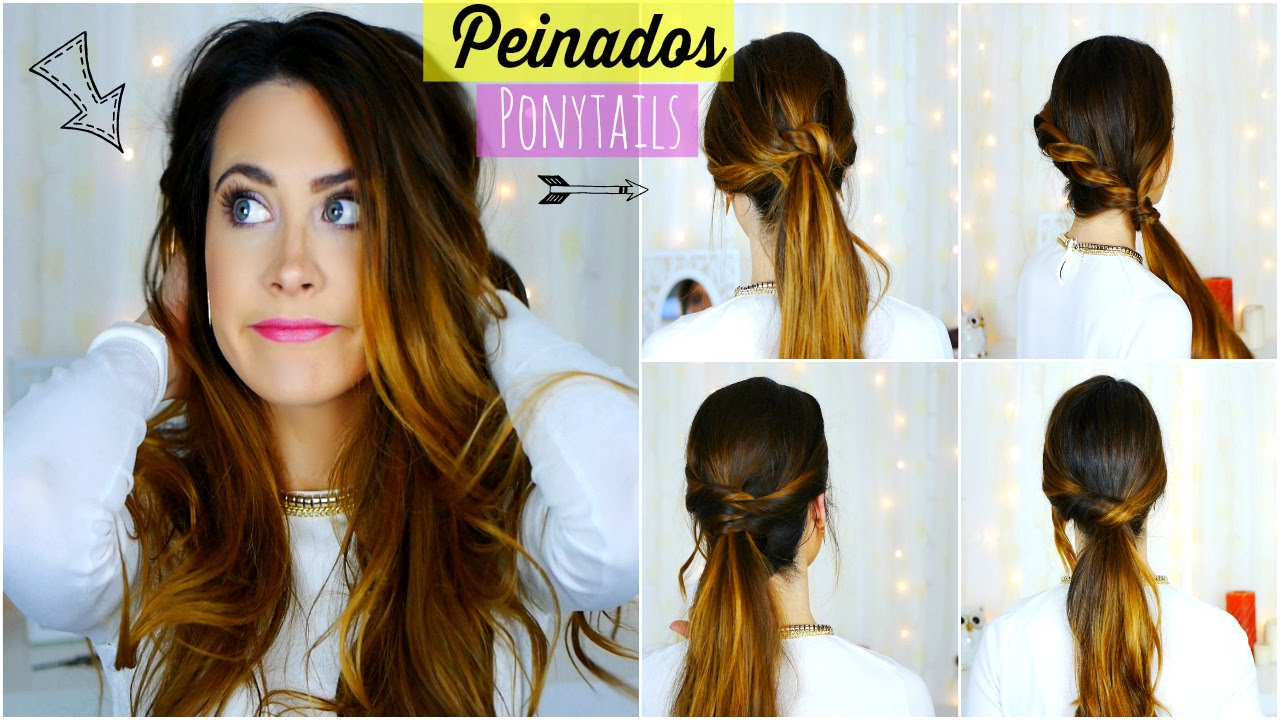 peinados fciles y rpidos para easy and quick ponytails lizy p youtube