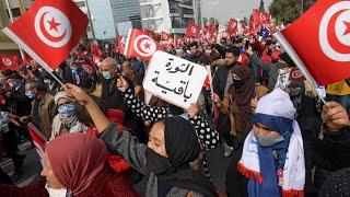 Tunisie : les partisans d'Ennahda se mobilisent en pleine crise politique