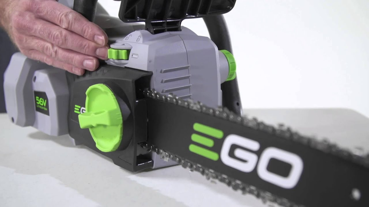 How to adjust the chain on the ego power chain saw youtube how to adjust the chain on the ego power chain saw greentooth Image collections