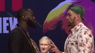 The intense faceoffs from today's Deontay Wilder vs Tyson Fury 2 Press Conference | Wilder vs Fury 2