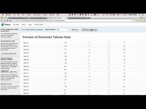 OpenElections: Using Tabula for Extracting Data from PDFs - YouTube