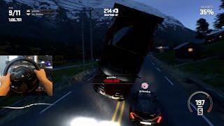 DriveClub GoPro Online Racing- I VIN DIESEL'D FLIPPED THIS MAN!   SLAPTrain